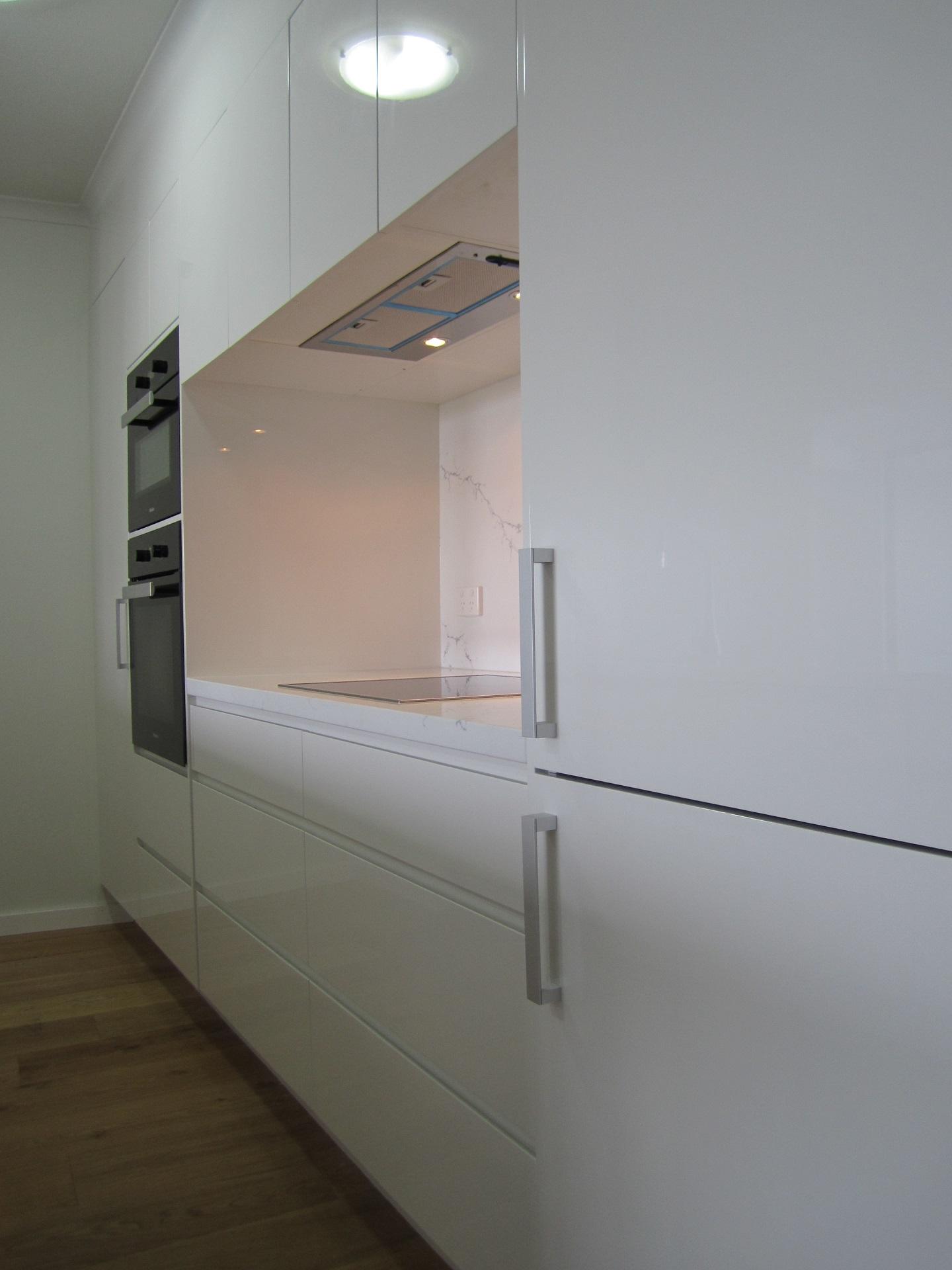 Brisbane Kitchen Design Brisbane City Contemporary Kitchen Renovation Integrated Fridge (9)