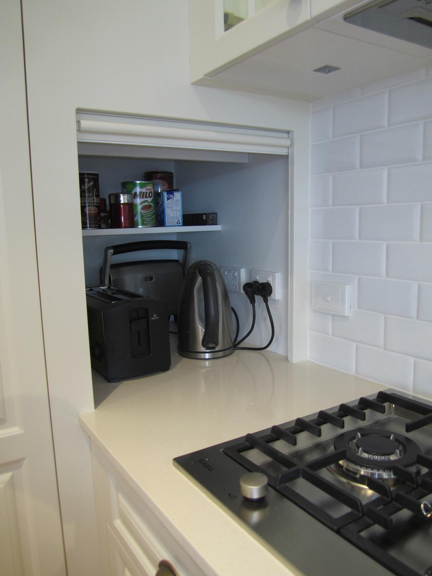 Brisbane Kitchen Design Sydney St Camp Hill  Traditional Kitchen Renovation Appliance Cupboard in Pantry (7)