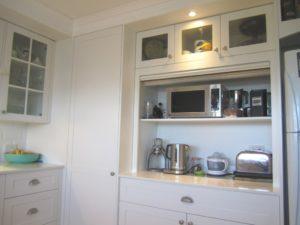 Appliance Cupboard with 2 Pac Roller Shutter Door