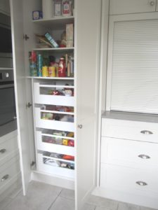 Shaker Style Kitchen with Blum Inner Drawers in Pantry