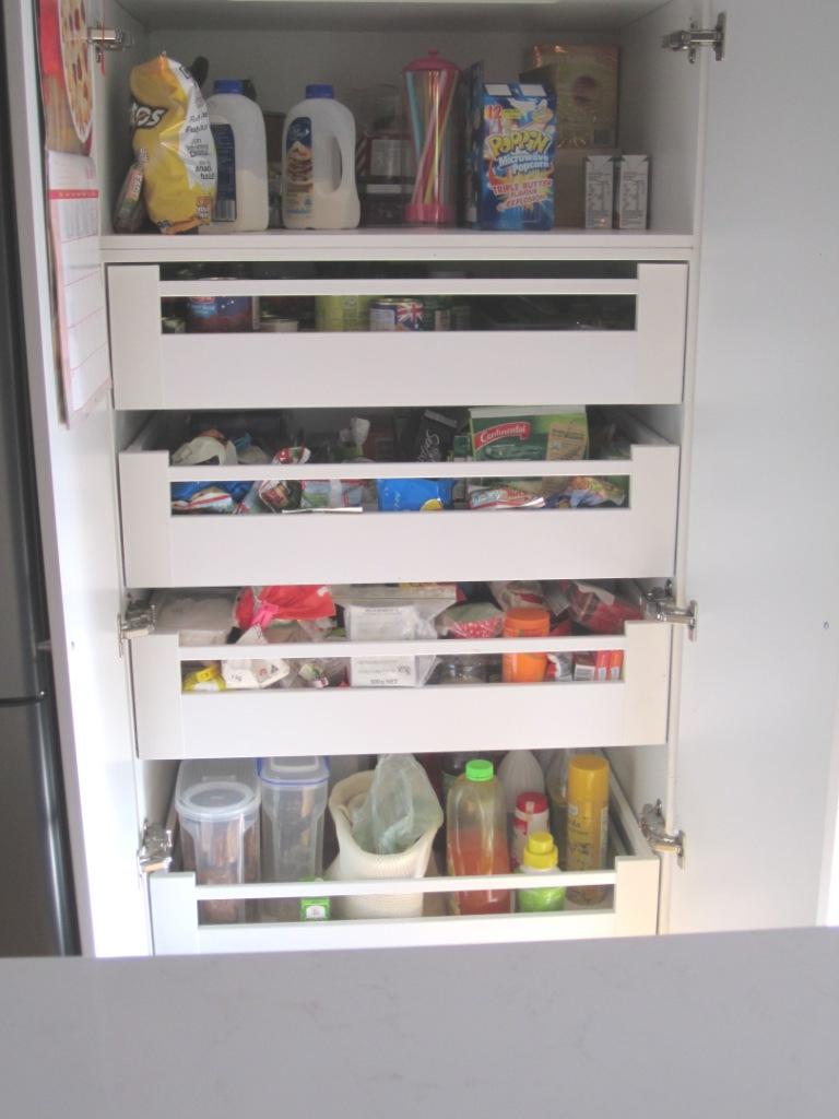 Brisbane Kitchen Design Patterson Shaker Style Kitchen McDowall Blum C Height Inner Drawers