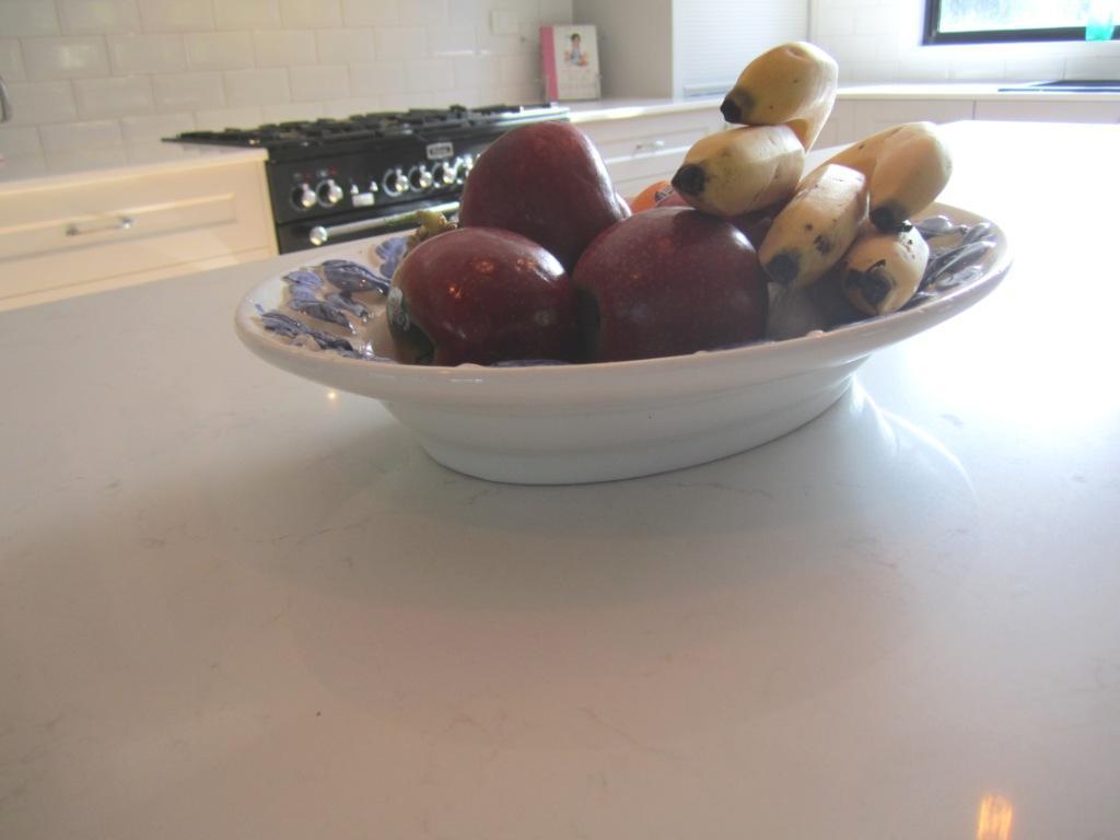 Brisbane Kitchen Design Patterson Shaker Style Kitchen McDowall Caesarstone Frosty Carina Benchtops