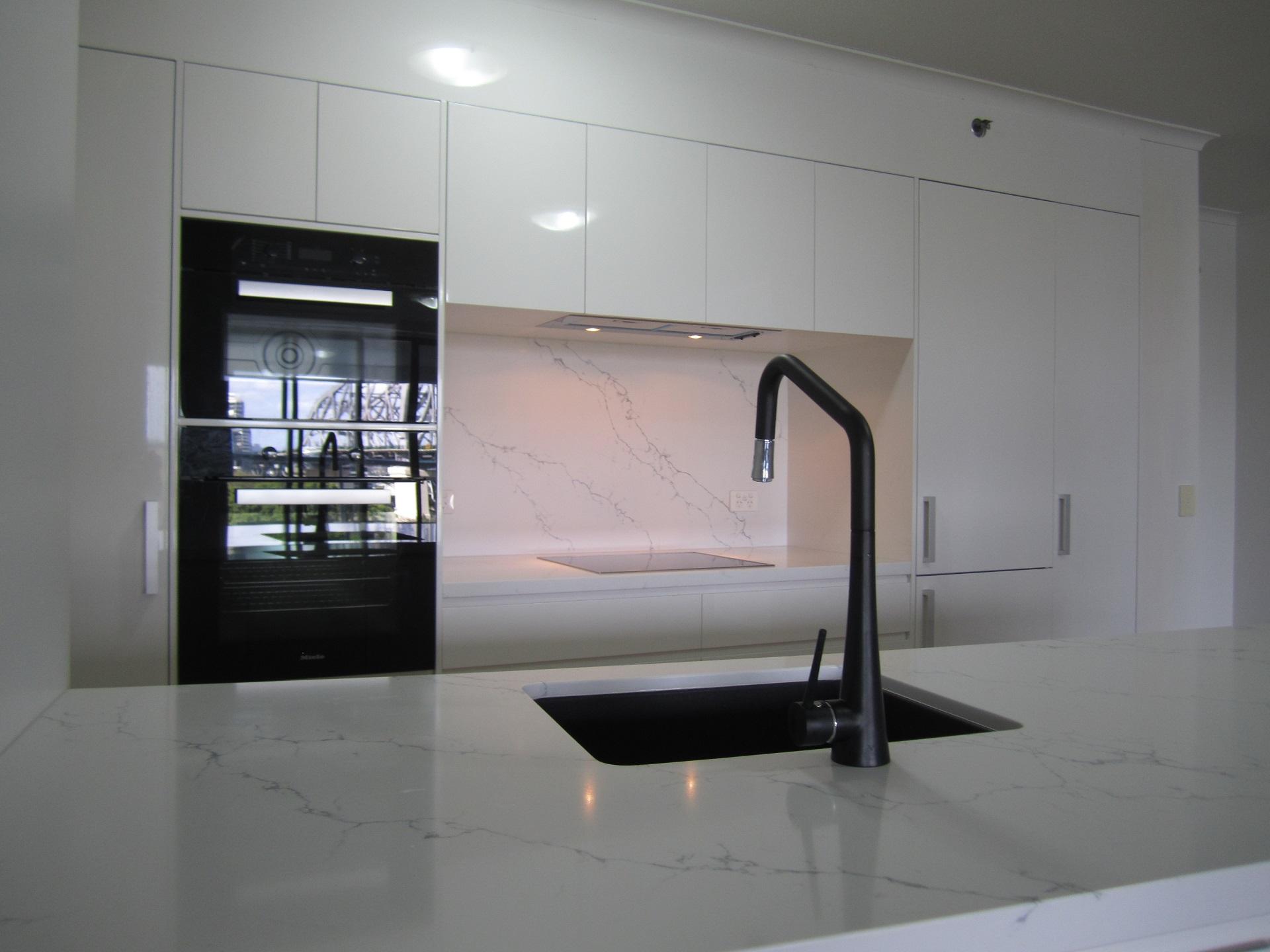 Brisbane Kitchen Design Brisbane City Contemporary Kitchen Renovation Undermount Granite Sink