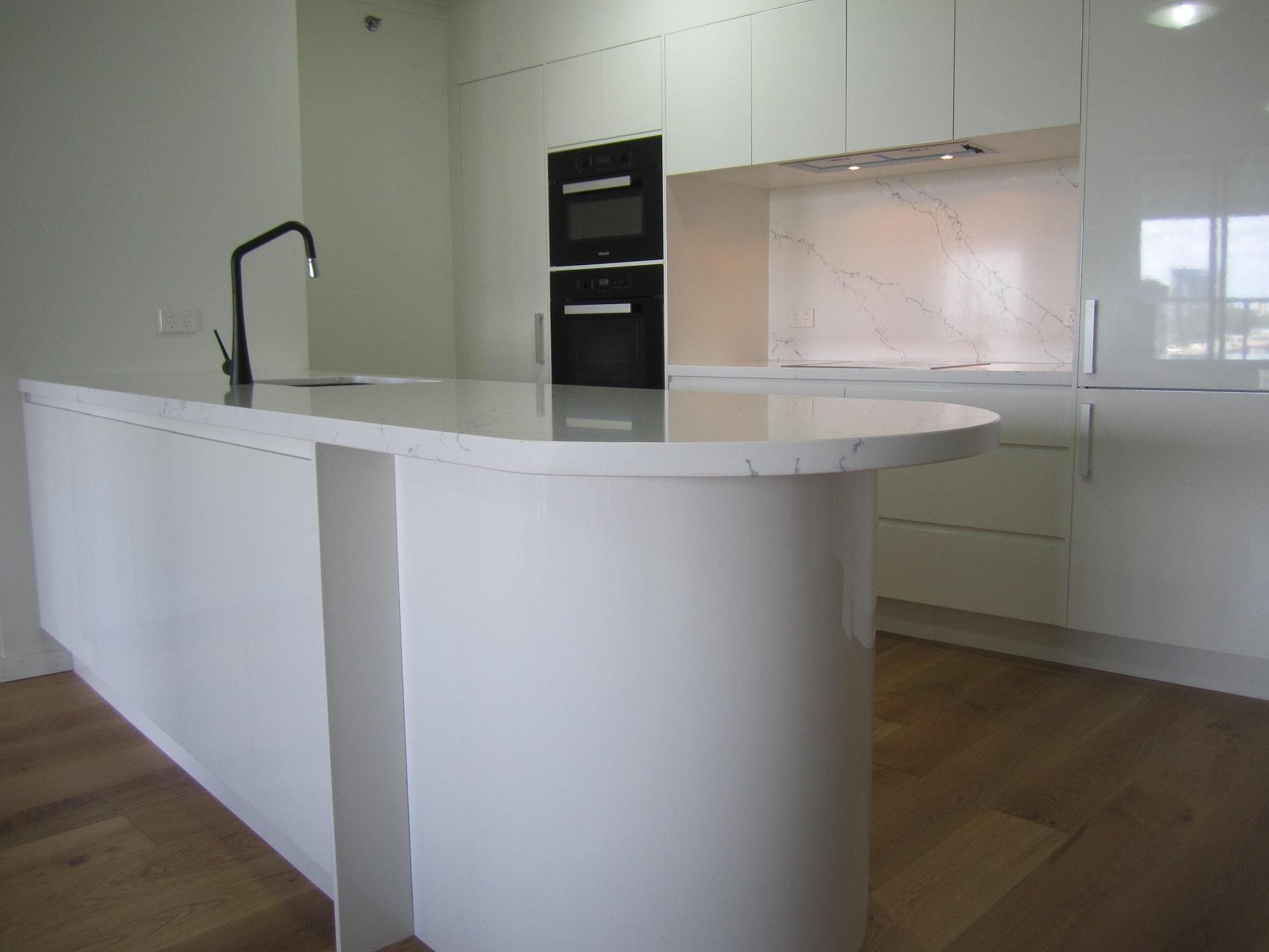 Brisbane Kitchen Design Brisbane City Contemporary Kitchen Renovation White 2 Pac