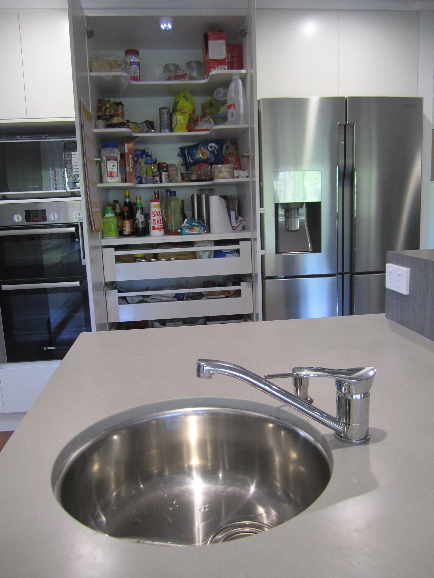 Brisbane Kitchen Design Kenmore Contemporary 2 Tone Round Undermount Sink
