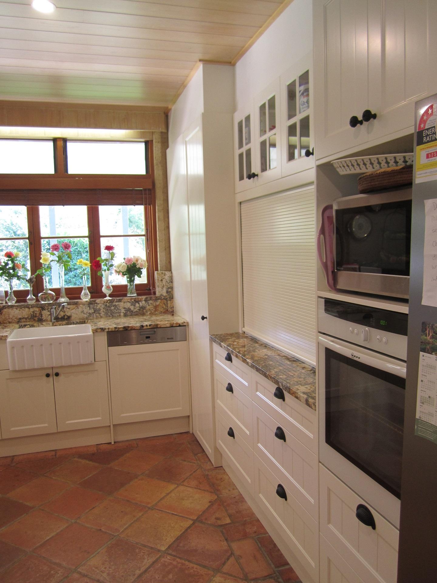 Brisbane Kitchen Design Samford Traditional Kitchen Renovation Appliance Cupboard Roller Shutter Door