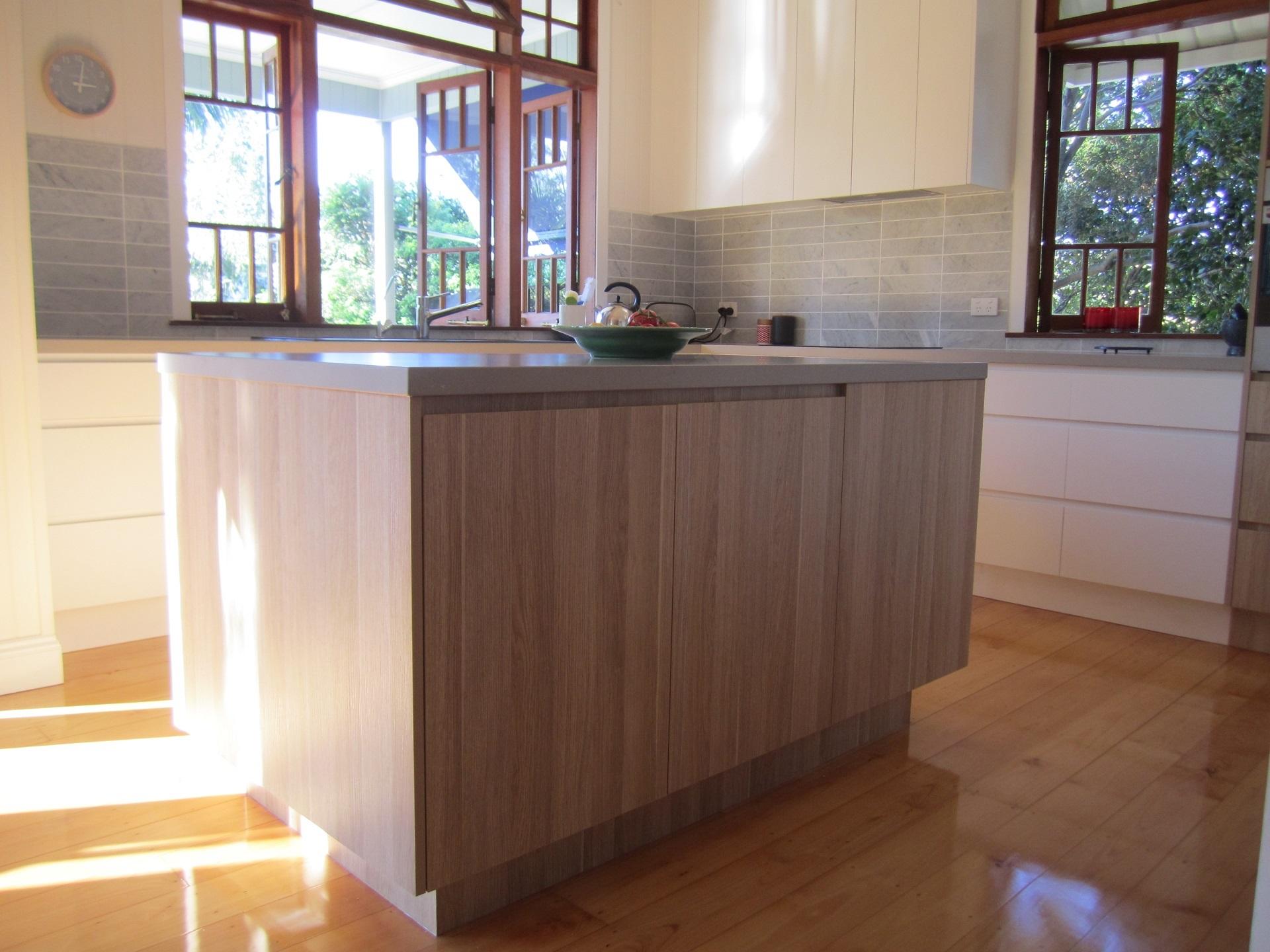 brisbane kitchen design Sherwood Contemporary Kitchen 2 Tone