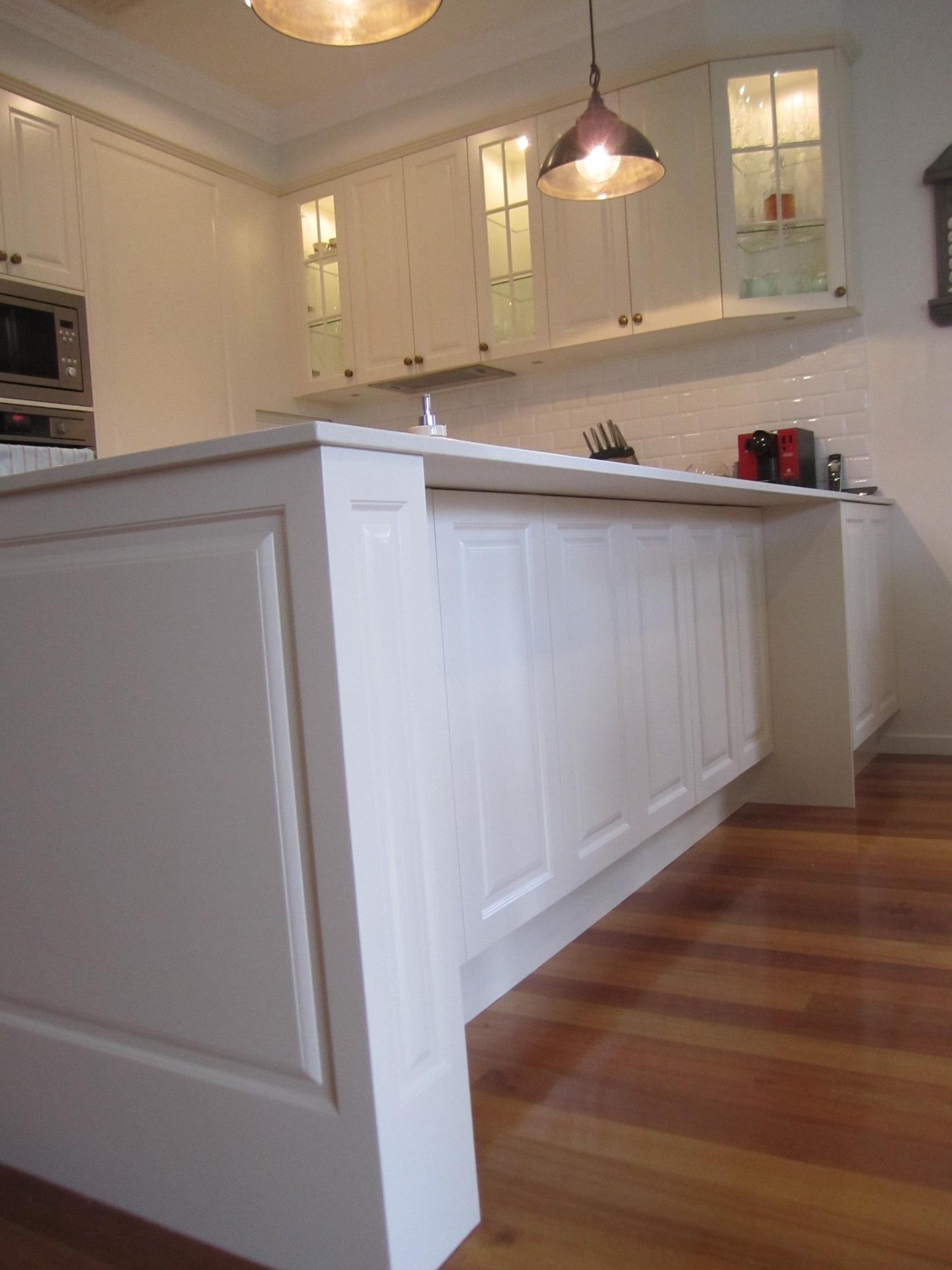 Brisbane Kitchen Design Sydney St Camp Hill Traditional Kitchen Renovation Island Posts8