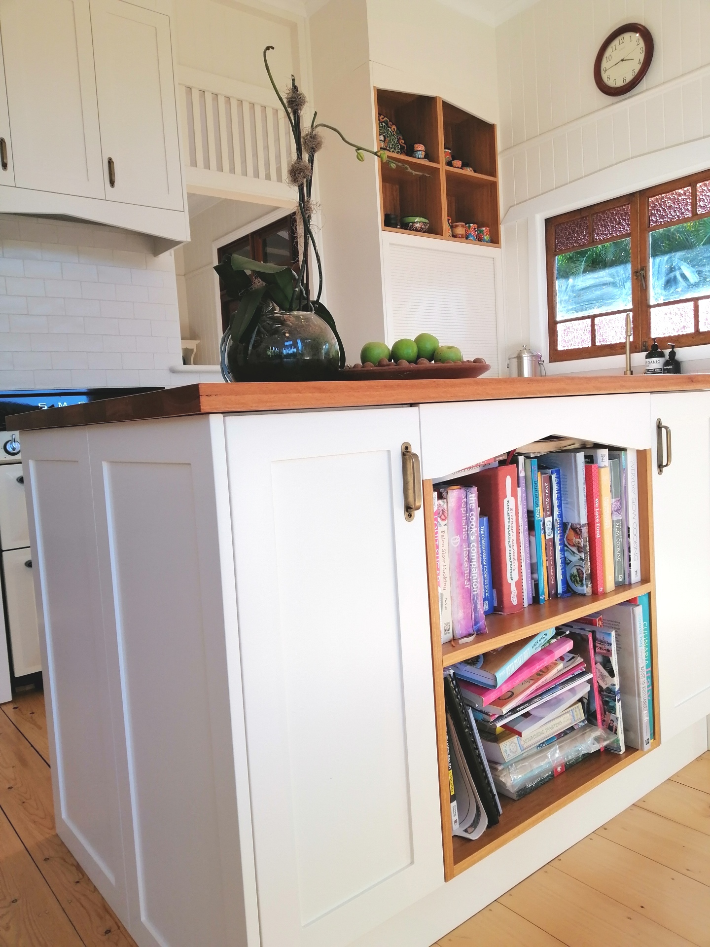 Shaker Kitchen Island Blackbutt Benchtop