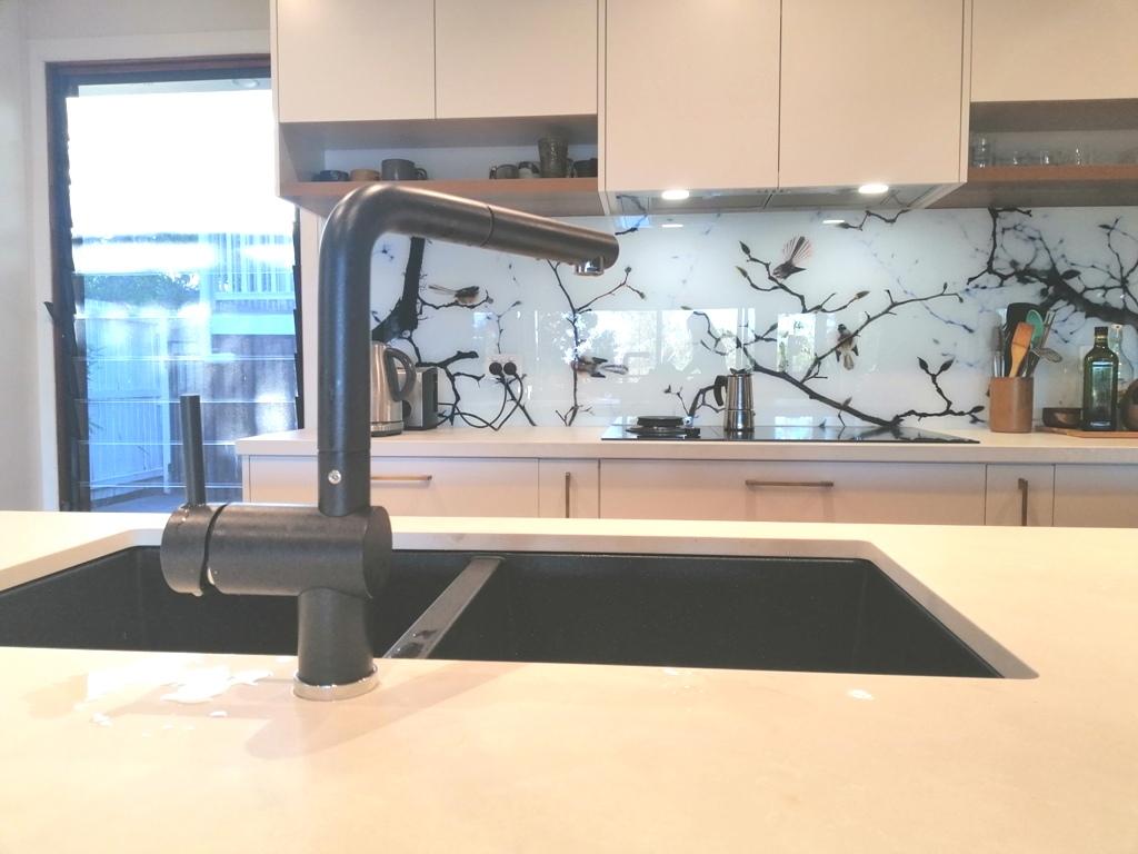 BrisbaneKitchenDesign Chapel Hill Contemporary Kitchen Santorini Black Undermount Sink